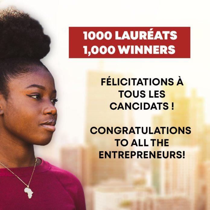 lauréats Challenge 1000 Entrepreneurs