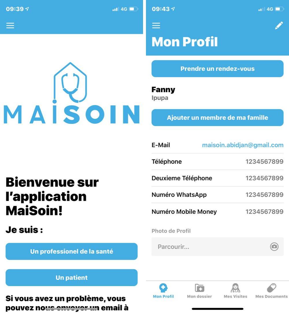 Capture MAISOIN startup esante Côte d'Ivoire